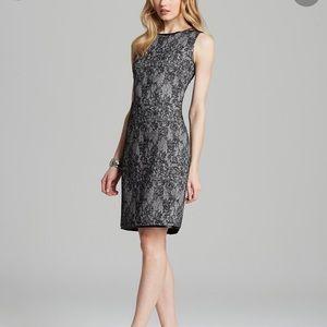NEW T Tahari Arona Lace Jacquared Sheath Dress